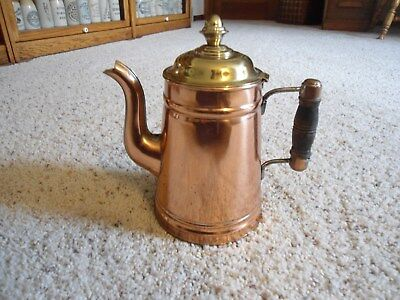 Antique, Vintage Coffee Pot - Copper, Brass