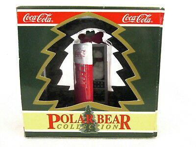 NIB 1994 Coca Cola Polar Bear Vending Machine Mischief Ornament