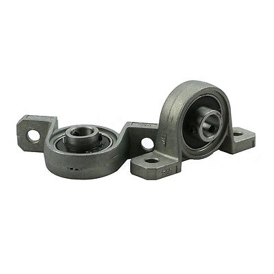 2Pcs Alloy Diameter 8mm Bore Ball Bearing Pillow Block Mounted Support KP08*-*