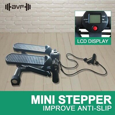 BVF Mini Cardio Stepper Fitness Step Machine Calves Thighs Exercise Workout Gym