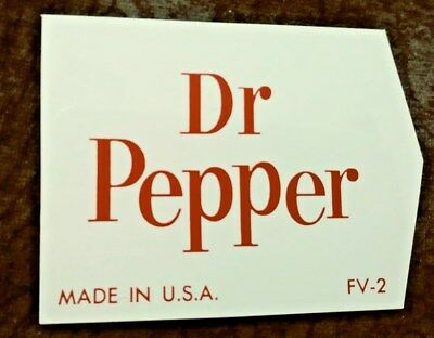 Mint Dr Pepper Hard Plastic Insert Sign From The 60`s