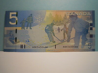 """Canada $5 Bank Note 2006 Issue  ( Aok5450466) """"unc"""""""
