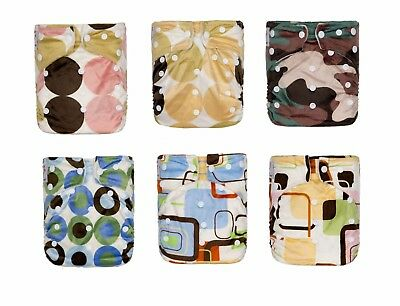 Kawaii Baby OS Snazzy Minky Cloth Diaper with 2 Microfiber Inserts Boys Girls