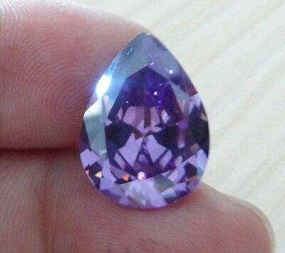 13x18mm AAA Purple Natural Amethyst 18.15ct Pear Faceted Cut VVS Loose Gemstone