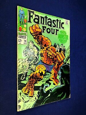 Fantastic Four #79 (1968 Marvel) Mad Thinker appearance Silver Age NO RESERVE