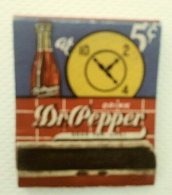 Never Used Dr Pepper Match Book 40`s