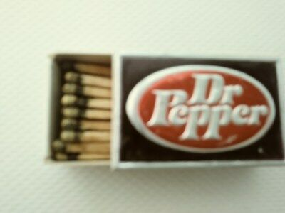 Mint Never Used Dr Pepper Match Box Wood Matches