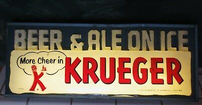 Vintage Krueger Beer lighted sign   bud miller pabst coors carling hamms olympia