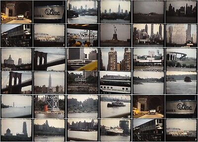 New York City Harbor Tour Cruise Vtg 1950s Home Vacation Movie 50' Reel 8mm Film