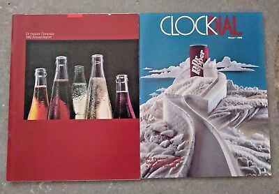Dr Pepper Clock Dial From 1985 And A 1982 Dr Pepper Annual Report Book