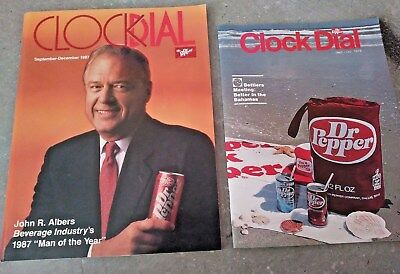2 Never Used Dr Pepper Clock Dial From Sept-Dec 1987  Sept-Oct-1978