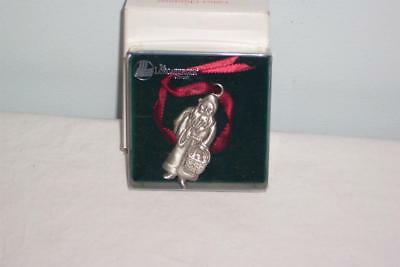 ~1990 Longaberger Pewter Father Christmas Ornament in Original Box~