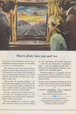 1946 Union Carbide: Theres Plenty Here You Cant See Vintage Print Ad