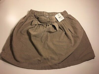 HANNA ANDERSSON NWT Tan Corduroy Skirt With Bow ~ Size 140 ~ Size 10 ~