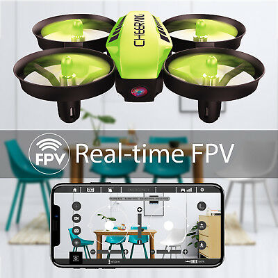 Cheerwing CW10 Mini RC Quadcopter Wifi FPV Drone Altitude Hold with Camera Green