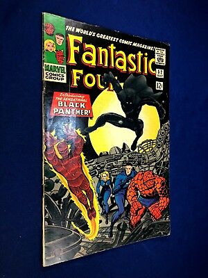 Fantastic Four #52 (1966 Marvel) 1st appearance of the Black Panther NO RESERVE