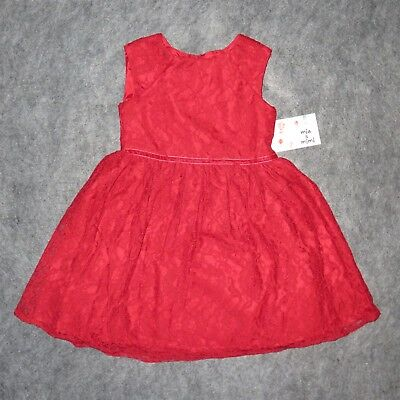 MIA & MIMI Toddler Girls Red Lace Dress Sizes 4T-5T **NWT**