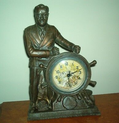 """Fdr """" The Man Of The Hour """" Historical Animated Motion Clock - Nice !"""