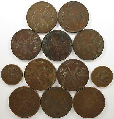 No reserve! China Honan Province coin lot, 10, 100, and 200 cash coins