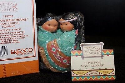 Enesco Friends of the Feather 'Love For Many Moons' #115703 - NIB