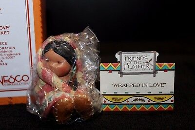 Enesco Friends of the Feather 'Wrapped in Love #115649 - NIB