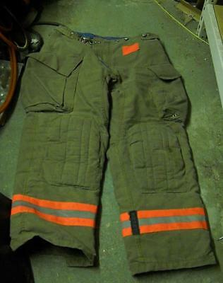 Morning Pride Firemans Turnout  Bunker Pants Gear 36/31 Globe Fire Dex Securitex