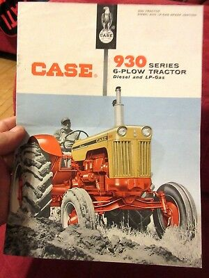 1960 Case 930 Series 6 Plow Tractor Sales Brochure Minty