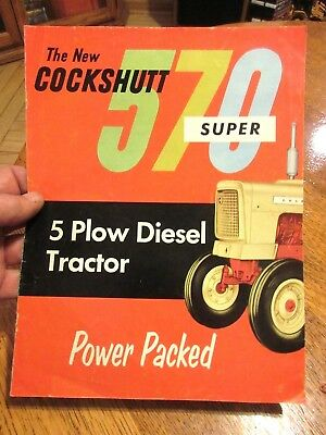 vintage 1961 The New Cockshutt Super 570 5 plow Diesel Tractor sales brochure