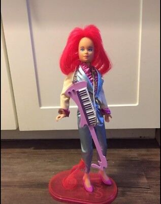 Jem and the Holograms KIMBER doll, clothes, shoes, Stand  vintage Hasbro