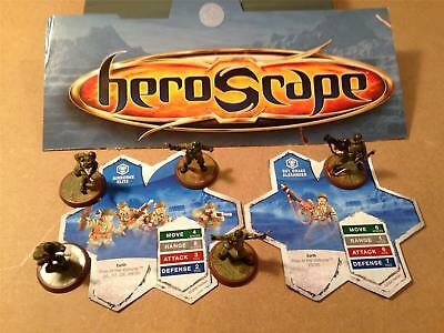 US Army 2 Cards 5 Figures Heroscape Rise of the Valkyrie Set Replacement Parts