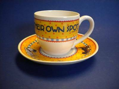 Mary Engelbreit Tea Cup & Saucer Everyone Needs Their Own Spot
