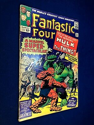 Fantastic Four #25 (1964 Marvel) 2nd Silver Age appearance of Captain America