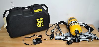 MSA Ultralite Fiberglass Tank Air Supply w/ Harness Carrier Vari Clear Radio Kit