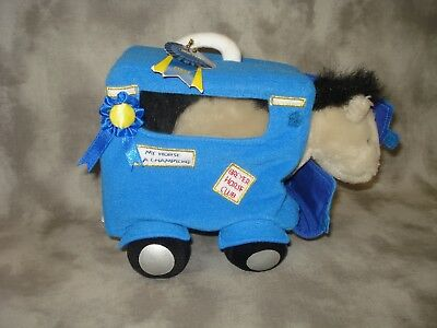 Breyer Tack/Accessories Blue Soft Trailer With Stuffed Horse