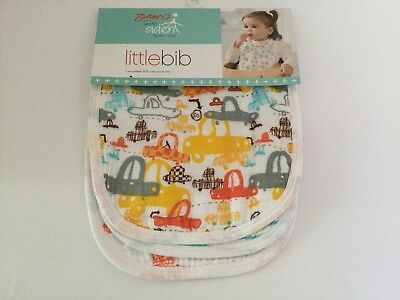 ZUTANO FOR ADEN by Aden + Anais 3 PRE-WASHED COTTON MUSLIN BIBS SUNDAY DRIVE NEW