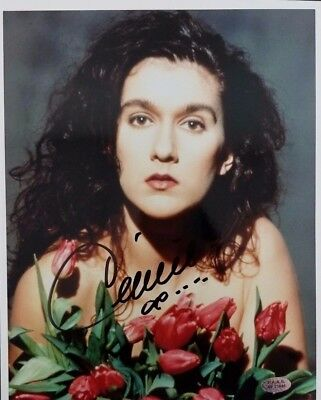 Singer Celine Dion Hand Signed 8 x 10 Photo  P.A.A.S. Authenticated