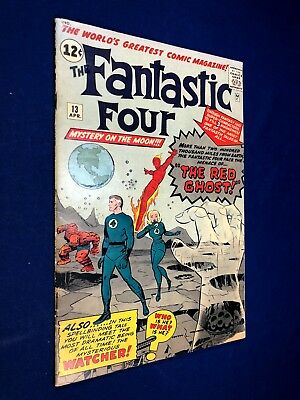 Fantastic Four #13 (1963 Marvel) 1st appearance the Watcher Red Ghost NO RESERVE