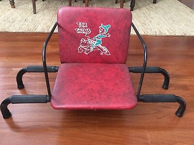 Vintage TOM THUMB  Child's Barber Chair Booster Seat - 1940s/1950s - Red- RARE