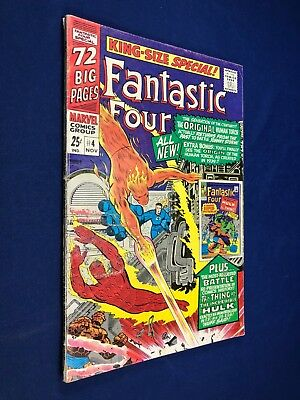 Fantastic Four Annual #4 1st Golden Age appearance in Silver Age Human Torch