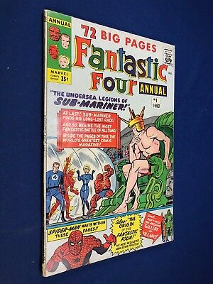 Fantastic Four Annual #1 (1963 Marvel) Sub-Mariner appearance NO RESERVE