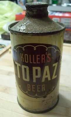 ANTIQUE VINTAGE Kollers Topaz Beer cone top can Koller Brewing Co.Chicago IL OLD