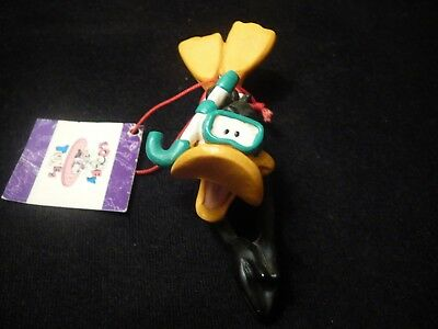 1997 Daffy Duck scuba diving Looney Tunes Christmas Ornament with tag