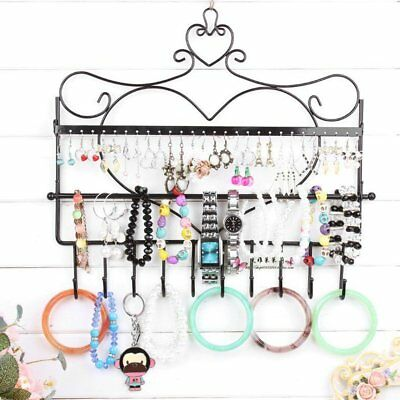 Iron Frame Earrings Necklace Holder Jewelry Accessories Storage Display RaTL