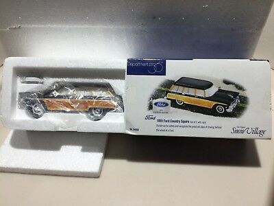 Dept 56 Snow Village® 1955 FORD COUNTRY SQUIRE Blue - BRAND NEW