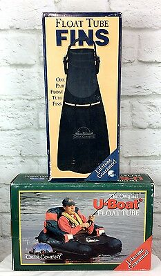 Original U-Boat Float Tube and Float Tube Fins-Fly Fishing  New in Box