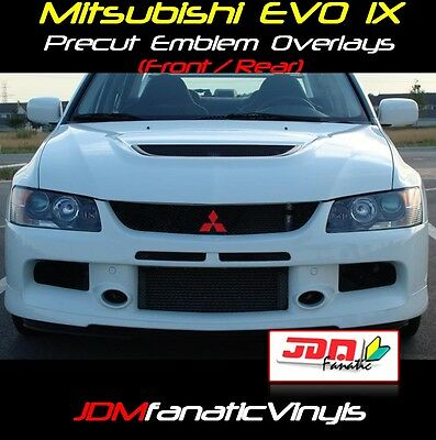 06-07 Lancer EVOIX EVO Emblem F&R Overlays Decal Wrap JDM PRECUT Inlay Evolution