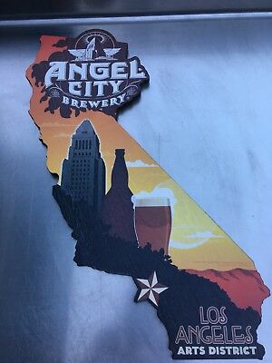 Angel City Brewing ~ California Wood Cut Out ~ Craft Beer Sign ~ Wood Beer Sign