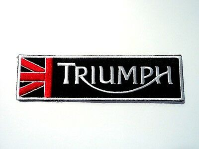 1x Blue Triumph Logo Patch Embroidered Cloth Applique Badge Patches Iron Sew On
