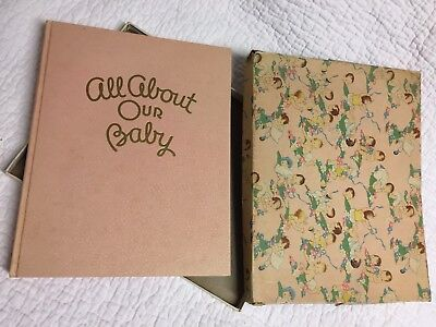 Vintage Baby Book - 1940's - original box and UNUSED - cool gift