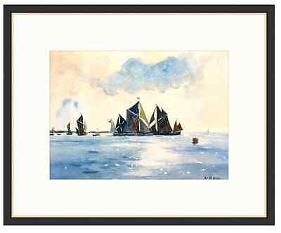 HAND PAINTED Watercolour on Paper - Sails